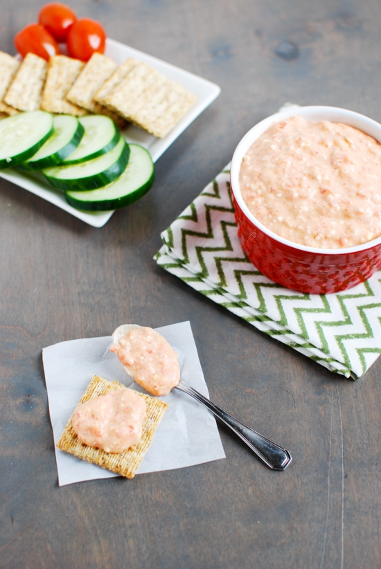 Bell Peppers Recipes: Spicy Red Pepper Feta Dip