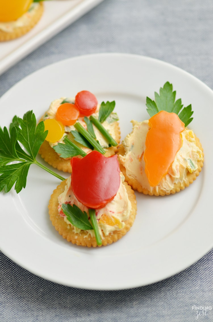Bell Peppers Recipes: Easy Appetizer with Veggie Flowers