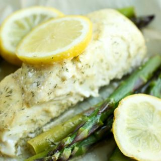 Halibut Recipe with Asparagus (Baked in Parchment)
