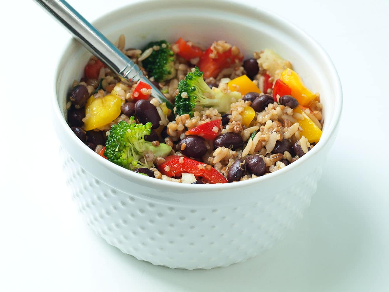 Bell Pepper Recipes: Rainbow Rice and Bean Salad