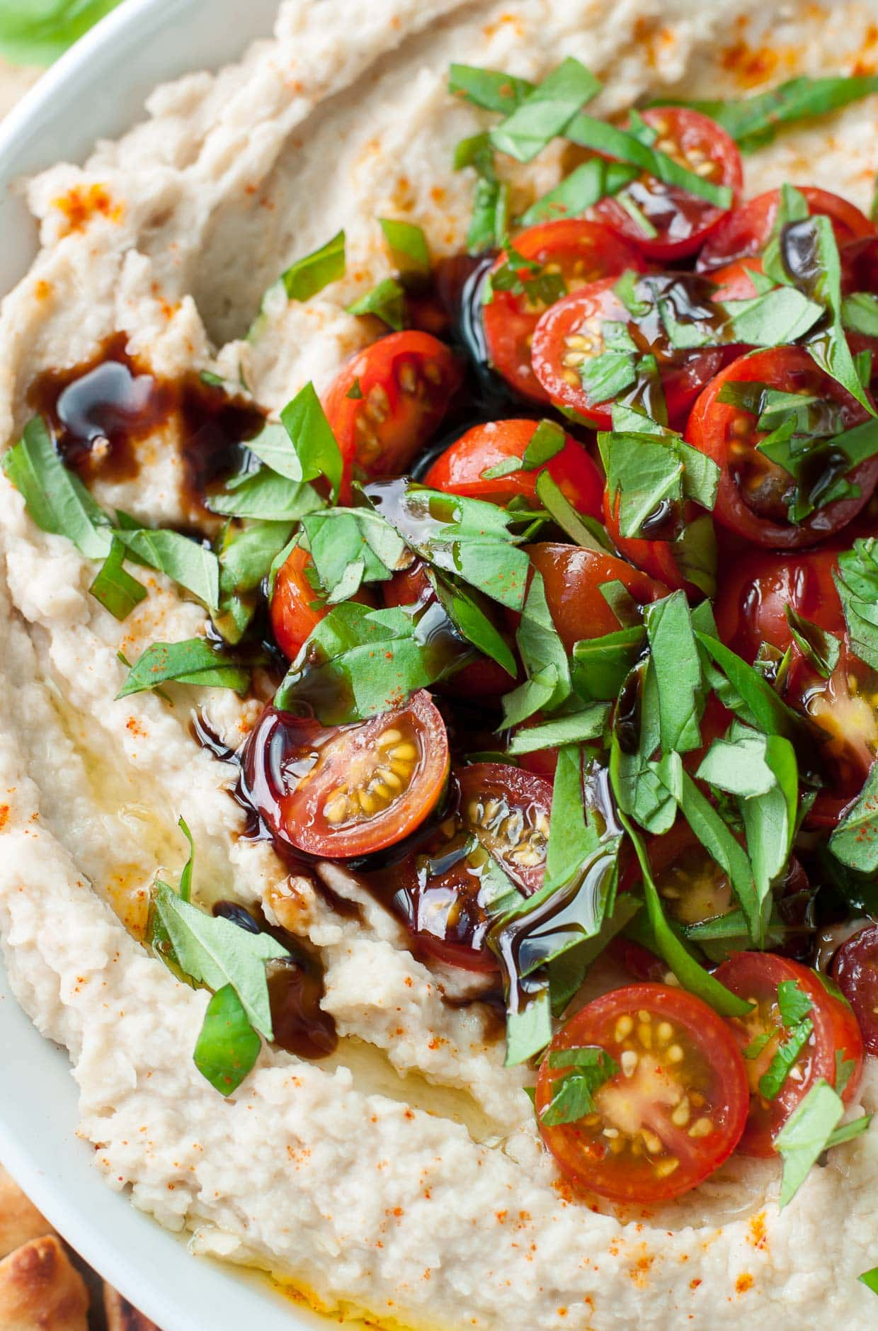 Creative Recipes Using Basil-Tomato basil White bean dip