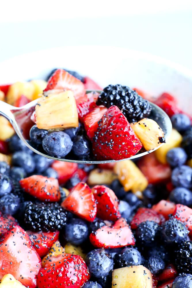 spoonful of summer fruit salad recipe