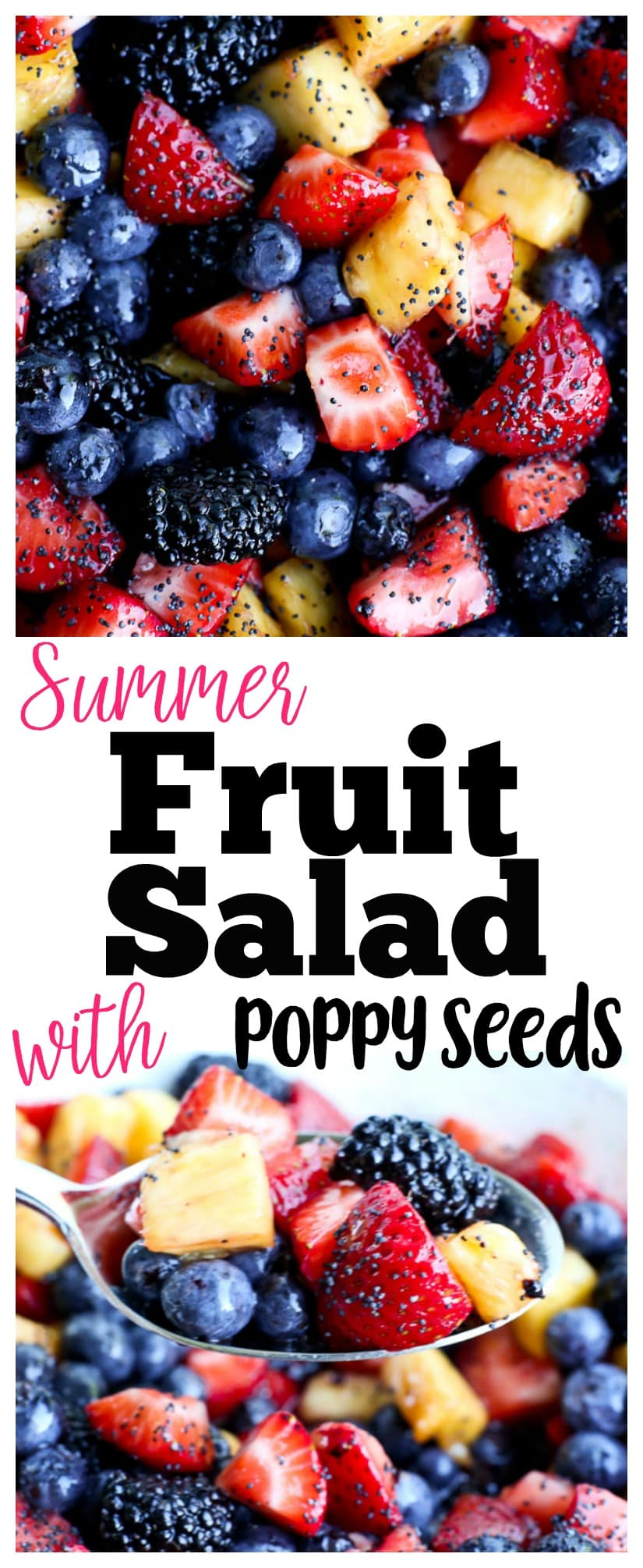 summer fruit salad recipe | poppy seeds | honey lime dressing | gluten-free | healthy recipe | pot-luck recipe