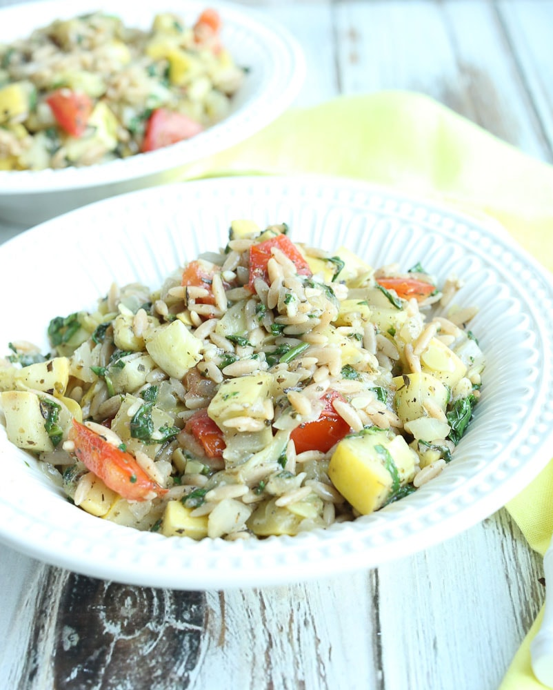 Summer Vegetable Orzo