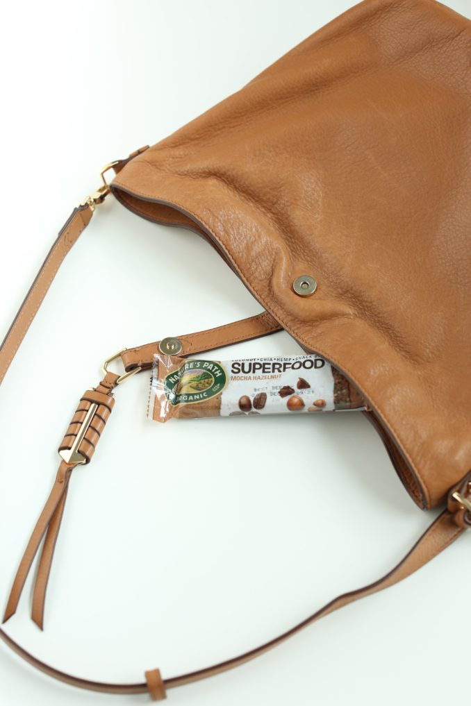 Nature's Path Organic Superfoods Bar in purse