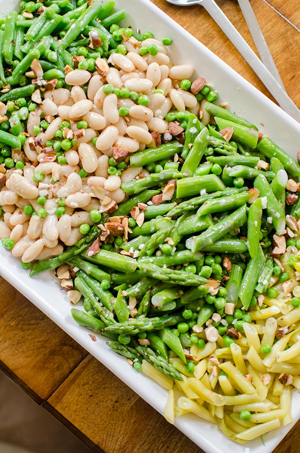 Green Bean Recipes -Three-Bean Garden Salad