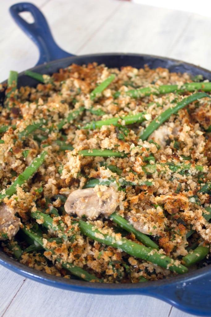 Green Bean Recipes -Green Bean Skillet Casserole