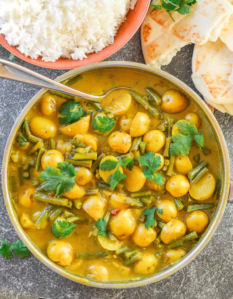 Green Bean recipes =Green Bean and Potato Curry