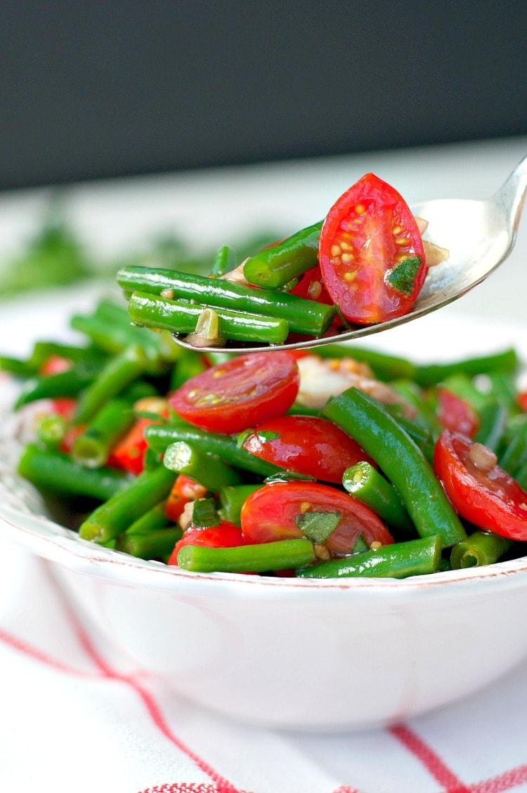 Green Bean Recipes--Simple Italian Green Bean Salad