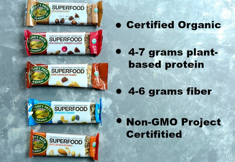 Nature's Path Organic Superfoods Bars information