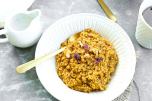 Pumpkin Spice Steel Cut Oatmeal