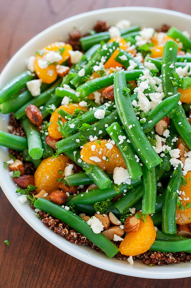 green bean recipes Green Bean and Quinoa Salad with Maple Citrus Dressing