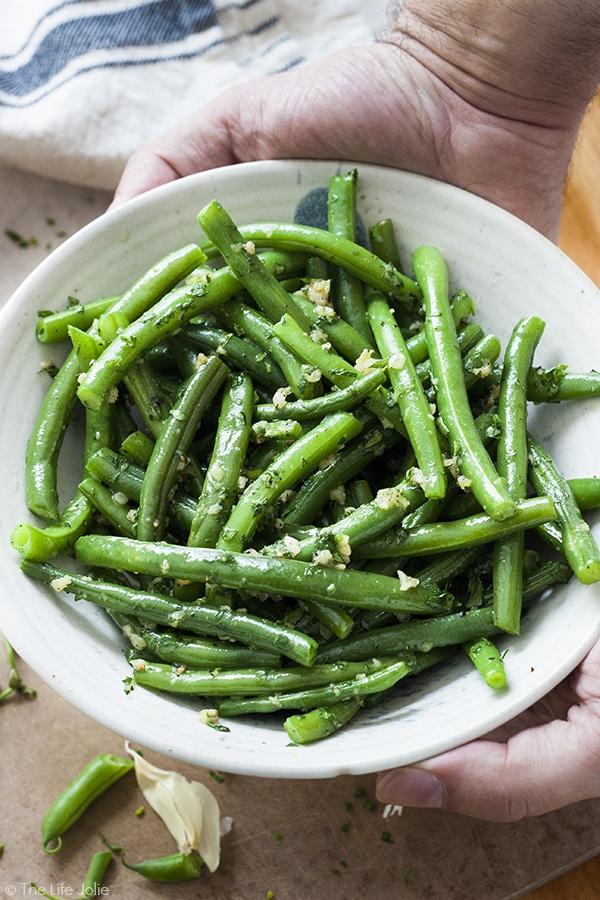 green bean recipes--Garlic Green Beans