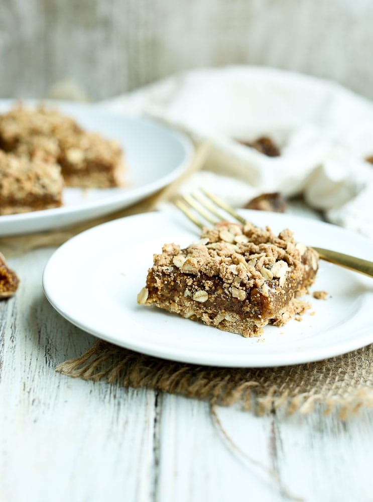 Oatmeal Fig Bar on a plate