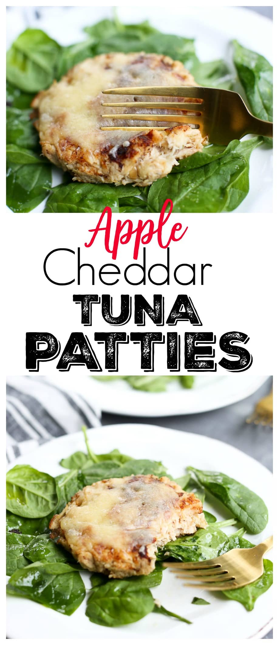 Apple Cheddar Tuna Patties Recipe healthy low carb lunch or dinner idea