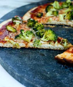 Roasted Broccoli Barbecue Pizza