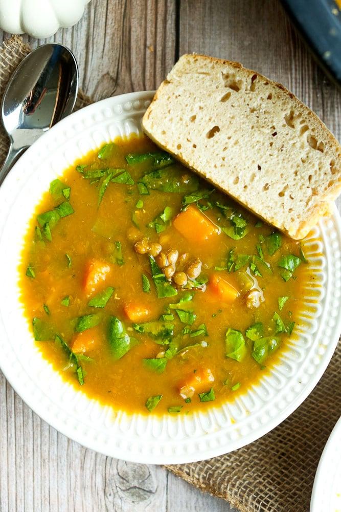 Slow Cooker Butternut Squash Soup healthy crockpot recipe