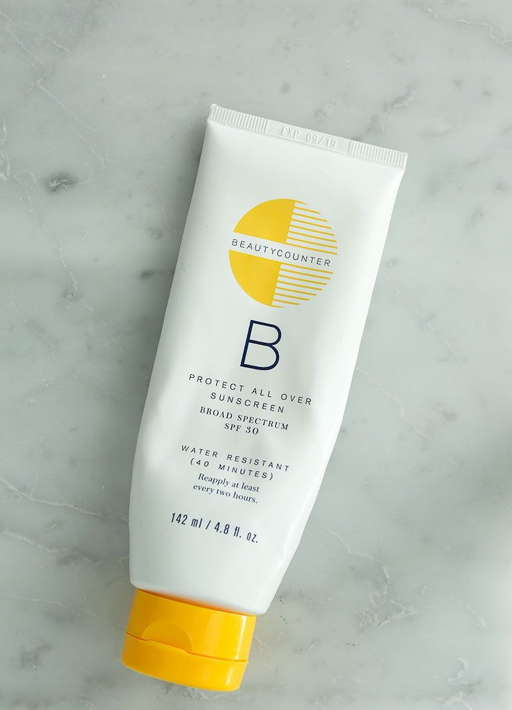 Beautycounter favorite products--natural sunscreen