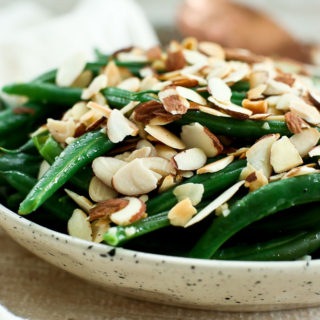 Garlic Butter Green Beans with Toasted Almonds Recipe