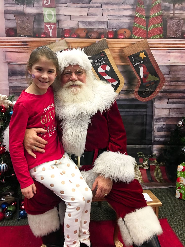 Ideas for Family Traditions for Chrismas-Meghan on santa's lap