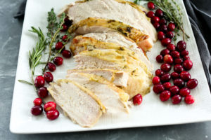Butter and Herb Roasted Turkey Breast