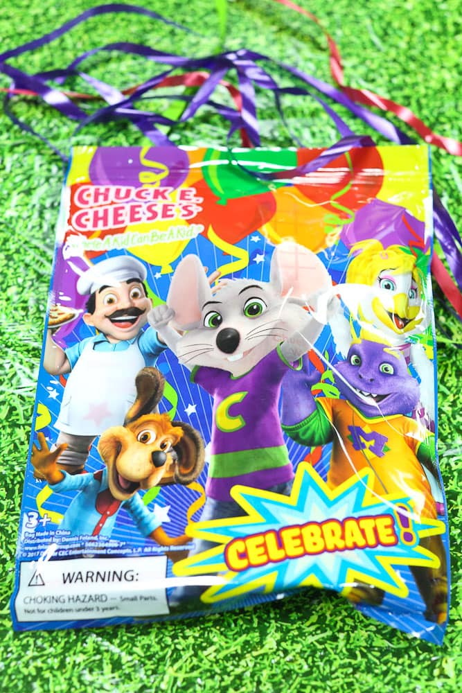 Luke's 6th Birthday Party at Chuck E Cheese's-goody bags