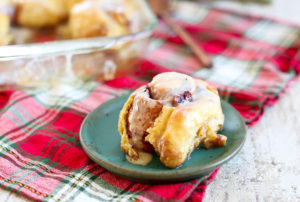 Overnight Cranberry Cinnamon Rolls