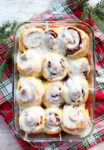 Overnight Cranberry Cinnamon Rolls-the whole pan looking gooey and delicious recipe
