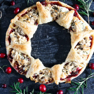 Puff Pastry Christmas Wreath Appetizer