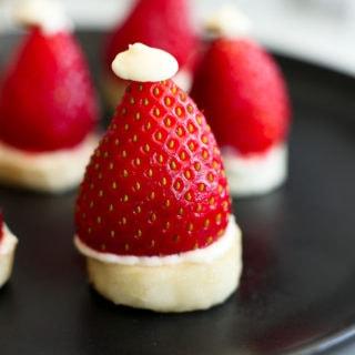 Strawberry Banana Santa Hats