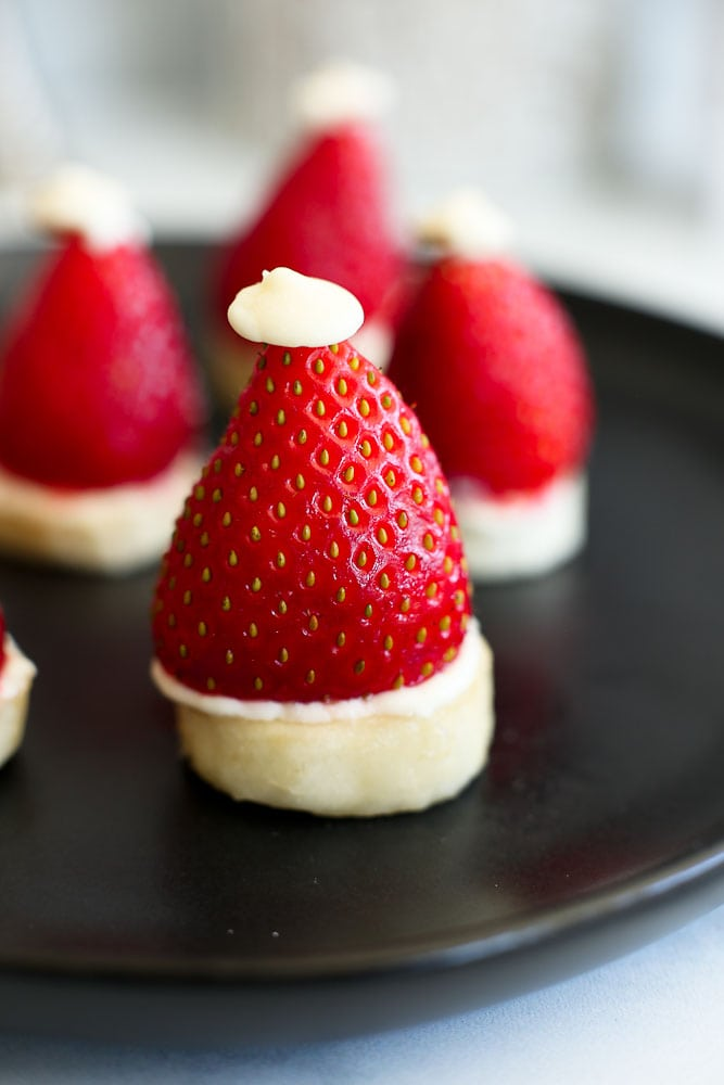 Strawberry Banana Santa Hats - Happy Healthy Mama