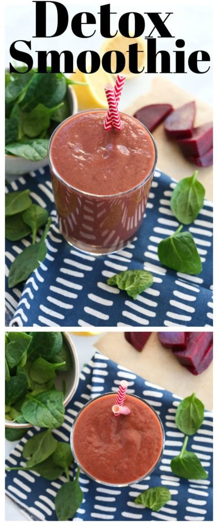 Detox Smoothie Recipe #vegan #healthysmoothie #detoxrecipes