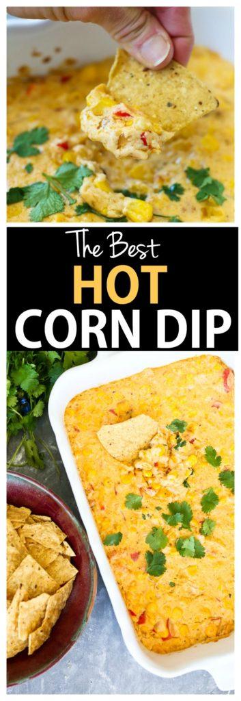 Hot Corn Dip Recipe #superbowl #appetizer #cheese #dip