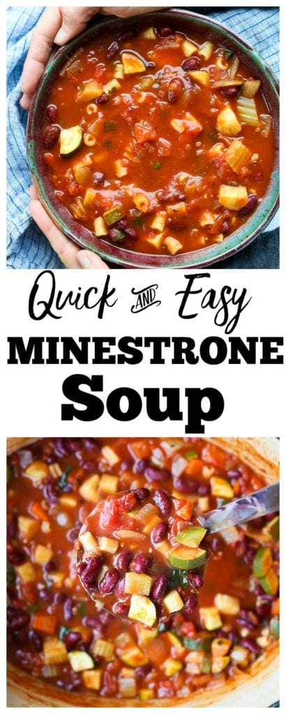 SO easy and healthy! Minestrone Soup Recipe #soup #healthy #minestrone