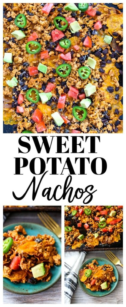 Sweet Potato Nachos Recipe #healthynachos #superbowl #appetizer