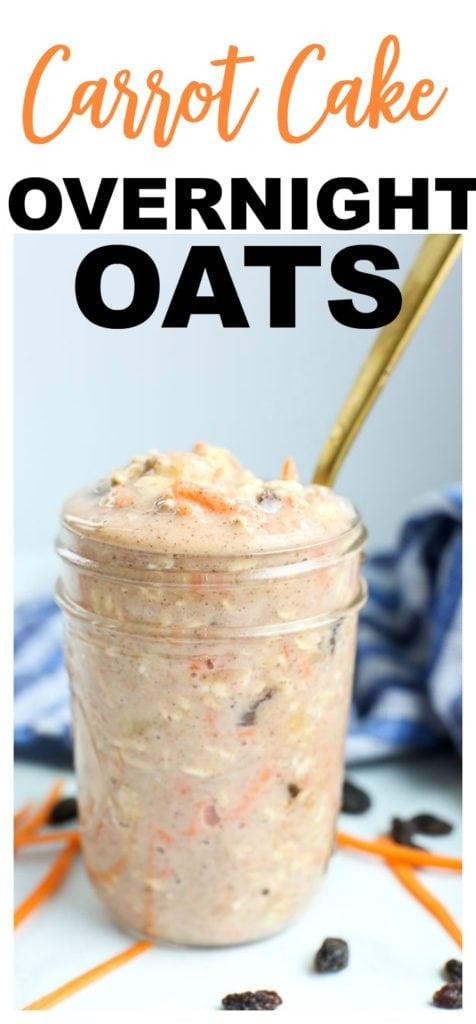 overnight oats recipes healthy Carrot Cake overnight oats