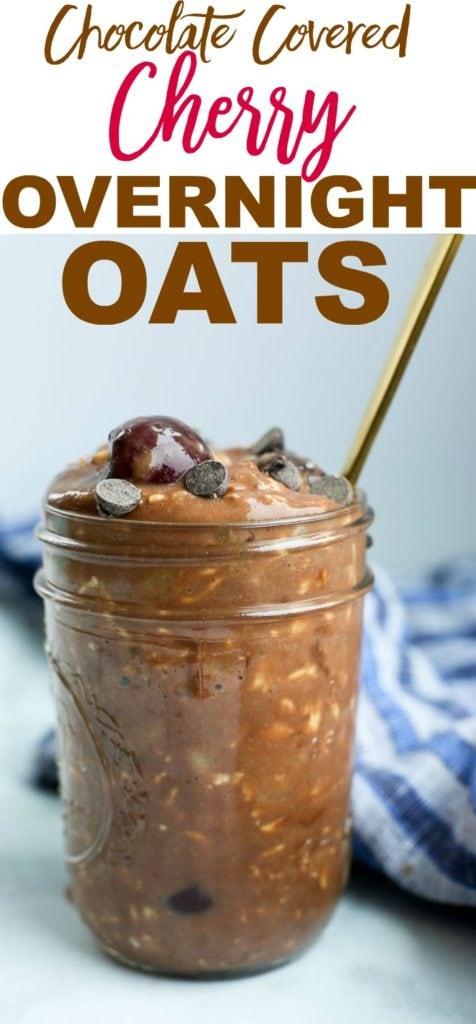Chocolate Covered Cherry overnight oats recipe