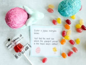 Easter Scavenger Hunt (Free Printable Clues!)