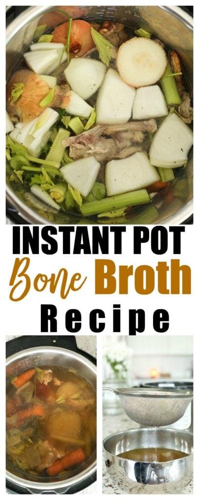 Instant Pot Bone Broth recipe how to #paleo #aip #GAPS #bonebroth #instantpot