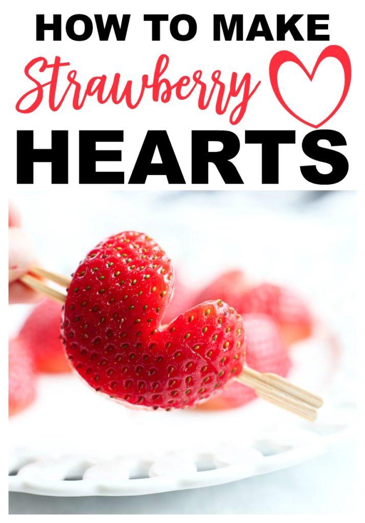 HOW TO make strawberry hearts #valentine'sday #classroomtreat #classroomparty #healthysnack