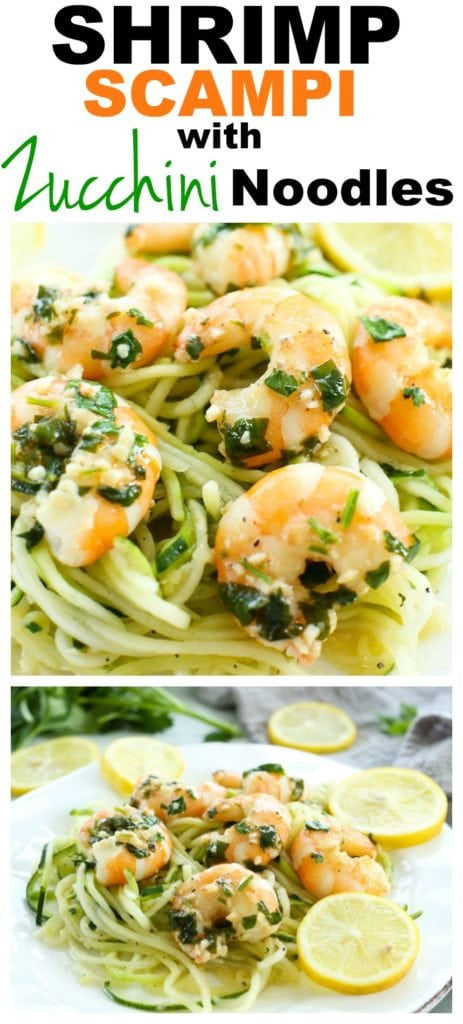 Shrimp Scampi with Zucchini Noodles recipe #easy #dinner #quick #healthy #lowcarb