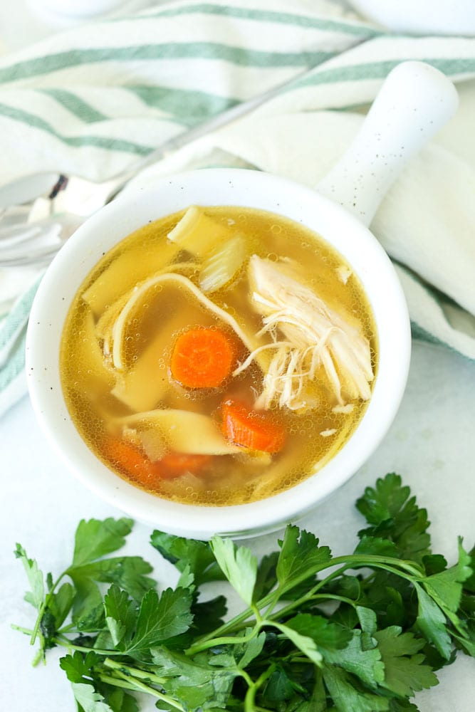 crock pot chicken noodle soup without broth
