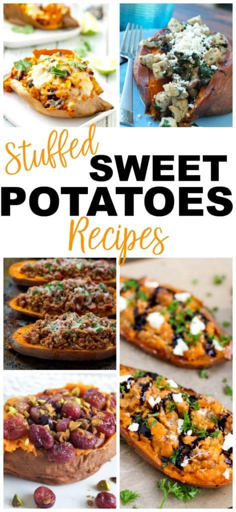 Sweet Potatoes Recipes Stuffed Sweet Potatoes #sweetpotatoes #stuffed #dinner #healthy