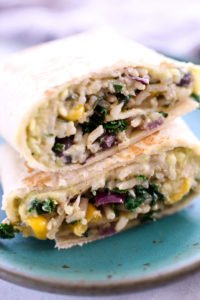 Hummus Veggie Wrap (Addicting!)