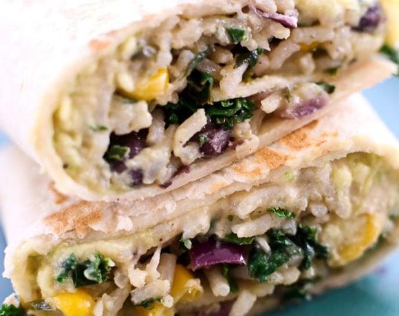 Hummus Veggie Wrap (Addicting!)