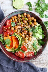 Korean BBQ Chickpea Bento Bowls Recipe