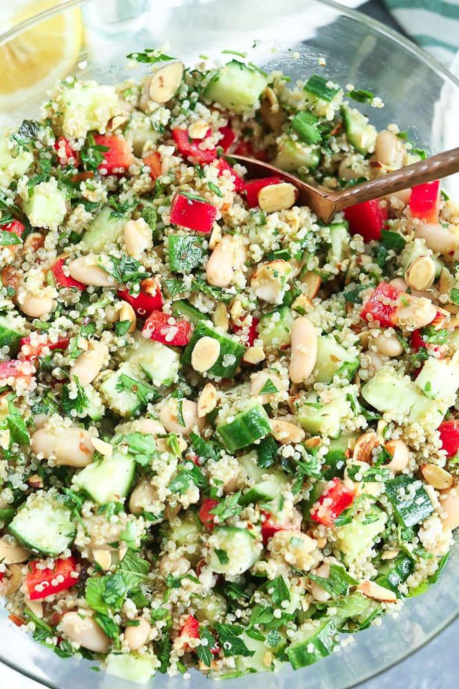 Quinoa Salad Recipe close up shot