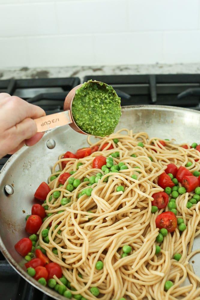 Arugula Pesto Pasta instructions