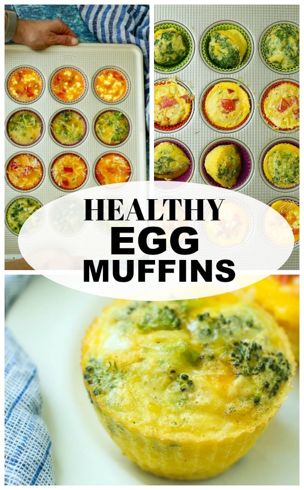 Healthy Egg Muffins recipe #eggs #breakfast #mealprep #makeahead #eggmuffins #vegetarian #glutenfree #easy #healthy