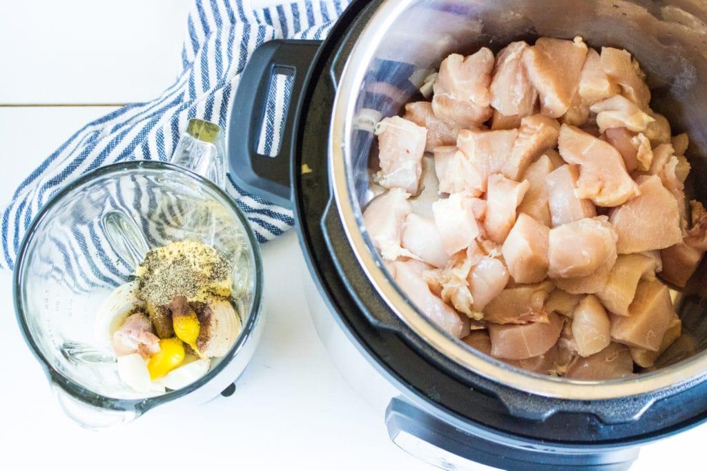 Instant Pot Jerk Chicken before cooking #instantpot #recipes
